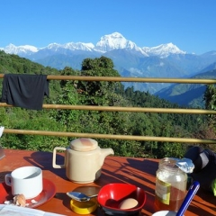 "Trek - Ghorepani - Best breakfast view ever 2 • <a style=""font-size:0.8em;"" href=""http://www.flickr.com/photos/127467392@N07/15818811997/"" target=""_blank"">View on Flickr</a>"