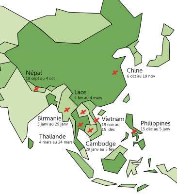 Itinéraire-Asie-tourdumonde-visasvies