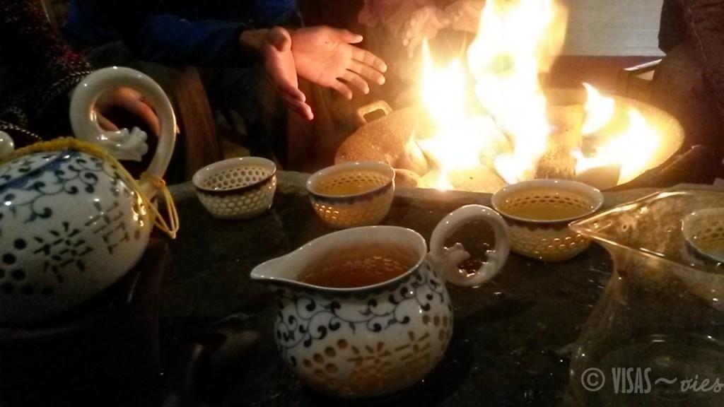 Dazai, rizière de Longji, dos du dragon, Chine thé
