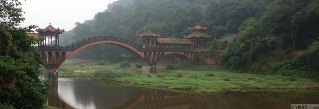 buddha géant Leshan Chine village de pêcheurs