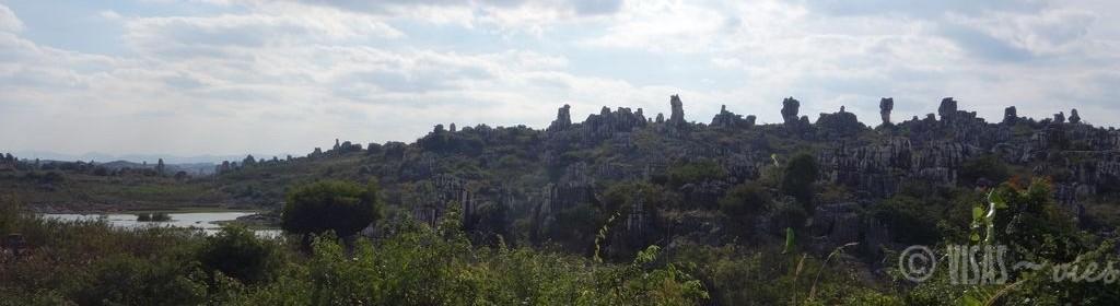 Shilin, forêt de pierres, Crête