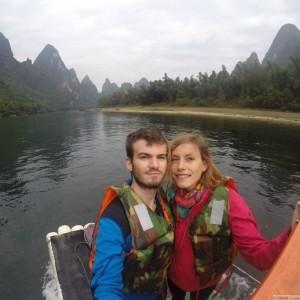bamboo boat xingping
