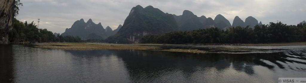 montagnes karstiques guilin xingping rivière Li