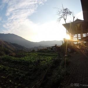 Dazai, rizière de Longji, dos du dragon, Chine lever soleil