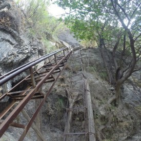 Gorges du saut du tigre - Echelle