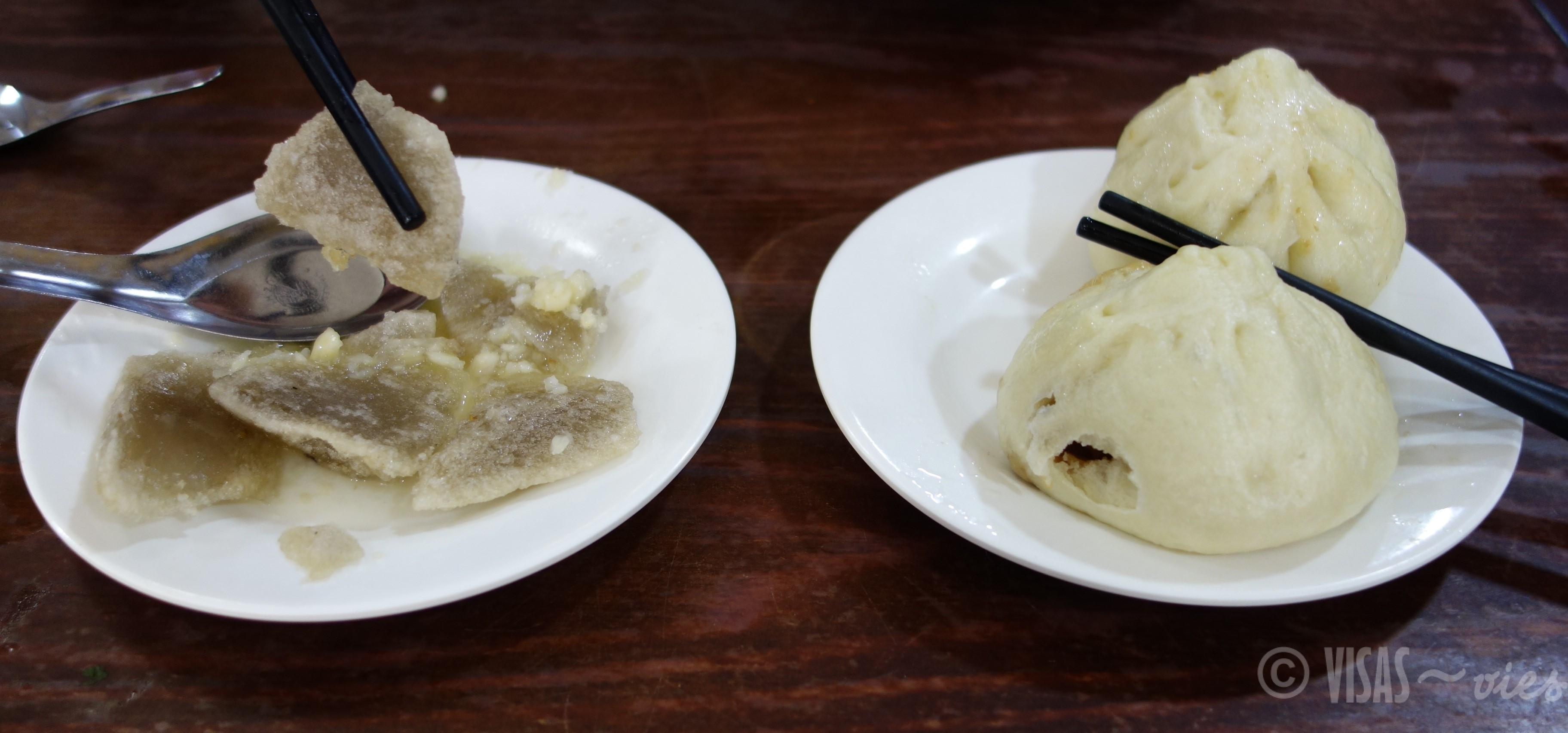 Dumplings et Craquers à l'ail