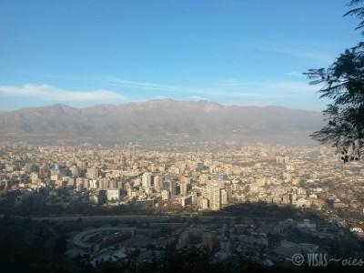 Santiago vue d'en haut